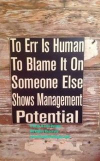 To Err is human....