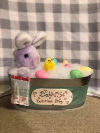 bunny in bath w eggs