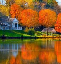 Autumn Day, Living by the Lake....