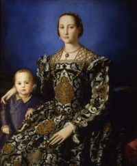 """Eleonora di Toledo with her son Giovanni"", by  Bronzino 1544 -1545"