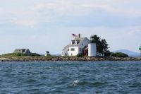 Blue Hill Bay Lighthouse on Green Island in Maine