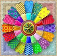 Colorful 3D Mosaic Flower