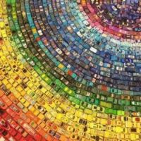 'Toy Atlas Rainbow' is an art installation of 2,500 old toy cars by UK artist David T. Waller
