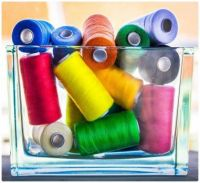 The Colours of Sewing Thread Spools