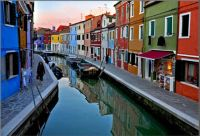 colourful houses in Burano Italy