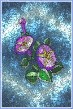 STAINED GLASS FLOWER A21