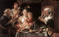 Jacob Jordaens: As the Old Sang the Young Play Pipes