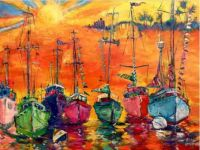 Flotilla Fort Myers by Leoma Lovegrove