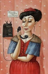 Angela Dzerih Art - Can't get a word in edgeways!