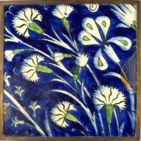 Tile Decorated with Carnations, Turkish (Iznik), mid–16th century