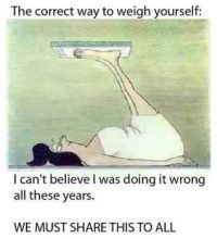 Weighing yourself the CORRECT way!