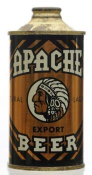 vintage-Apache-Export-beer-cone-top-beer-can