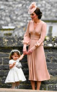 Duchess of Cambridge and Princess Charlotte at Pippa's Wedding