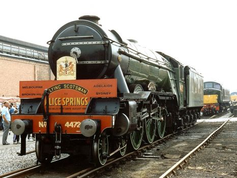 4472 'Flying Scotsman' at Crewe Locomotive Works Open Day - 21st Jul 1990