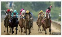 War of Will winning the Preakness Stakes