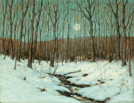 Winter Moonrise by Clark Greenwood Voorhees