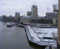 Snow at Canary Warf - at last