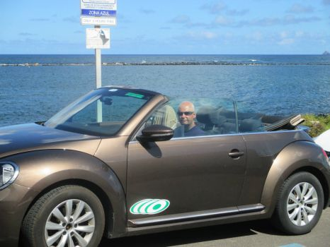 whizzing around in Lanzarote