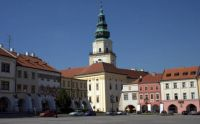 Square with castle in Kromeriz, Czech Rep.