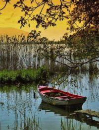 Lake sunrise in Greece