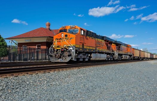 BNSF 5778 West on the CSX in Nappanee, Indiana