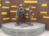 Bee Gees statue in Redcliffe.