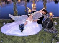 Brides & Their Gowns  . . .  An Angel?