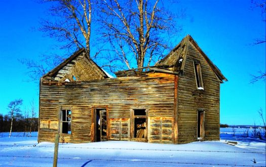 Abandoned House In Winter
