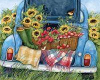 Sunflowers and Apples (Medium)