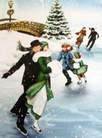 Christmas Scene - Art by Richard MacNeil, 'All about Christmas'