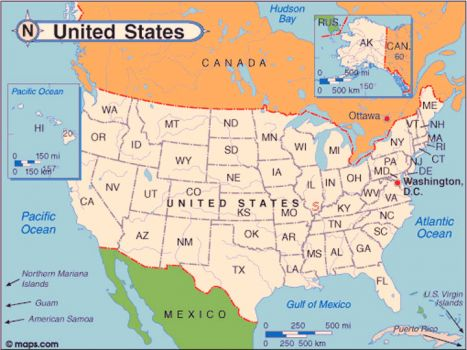 U.S. map for ANK