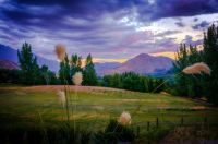 Sunset Over Arrowtown, New Zealand