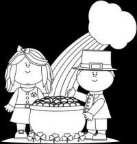 COLORING PAGE=POT OF GOLD