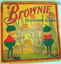 Vintage ~ Brownie Horseshoe Game