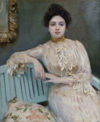 Ramon Casas i Carbó - Portrait of Mercedes Llorach, 1901