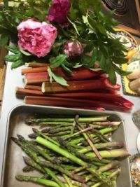Peonies, Rhubarb and Asparagus
