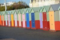 Brighton, sea front cabins