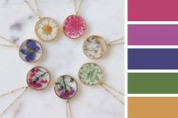 Resin Flower Necklaces