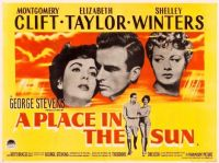 A PLACE IN THE SUN - 1951 POSTER  MONTGOMERY CLIFT, ELIZABETH TAYLOR, SHELLEY WINTERS