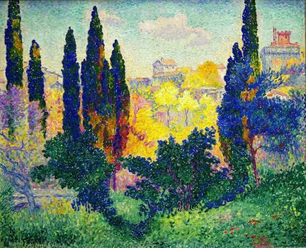 Cypress Trees at Cagnes,1908
