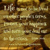 Live life . . . . .