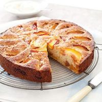 Peach Tea Cake ..for Warbler ( recipe included)