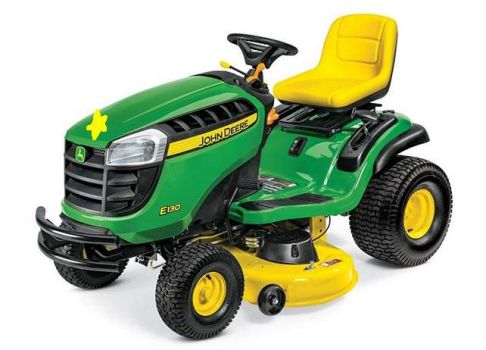 John Deere E130 Special Edition Yellow Star lawn tractor