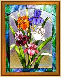 Irises Stained Glass