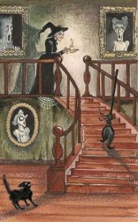 Witch on the stairs