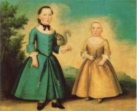 The  Height of Children's Fashion In Boston In1755-1760 (Boy And Probably A Girl)