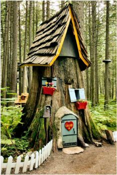 A Gnome House in the Enchanted Forest