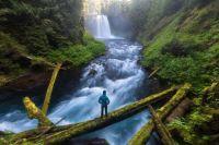 Koosah Falls, Willamette National Forest, Oregon, USA