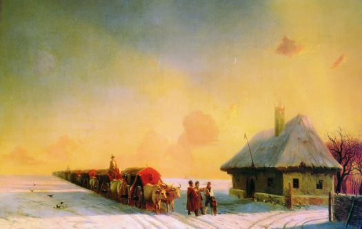 Chumaks in Little Russia by Ivan Aivazovsky