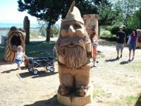 Gnome carving in Campbell River, BC